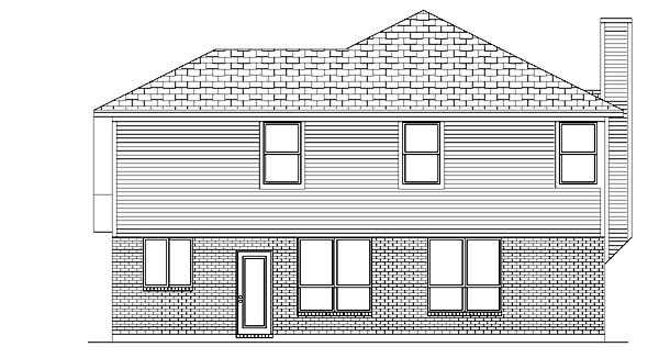 Traditional House Plan 88679 Rear Elevation