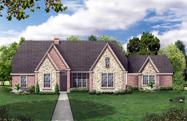 Tudor House Plan 88686 Elevation