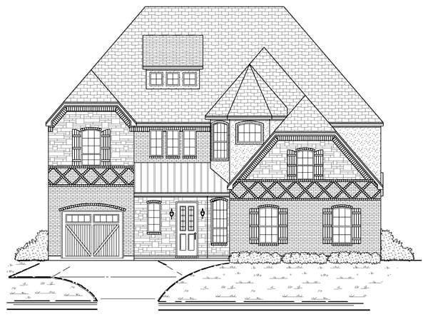 European Tudor House Plan 88692 Elevation