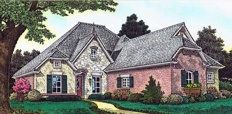 Country French Country House Plan 89405 Elevation