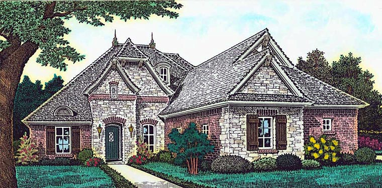 Country European French Country House Plan 89406 Elevation