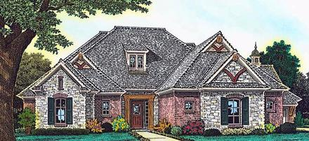European, French Country, Tudor House Plan 89407 with 3 Beds, 4 Baths, 3 Car Garage