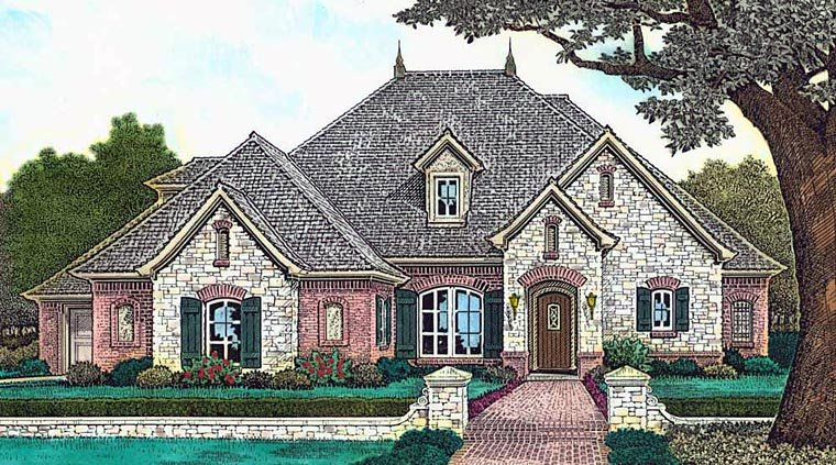 Country European French Country House Plan 89411 Elevation