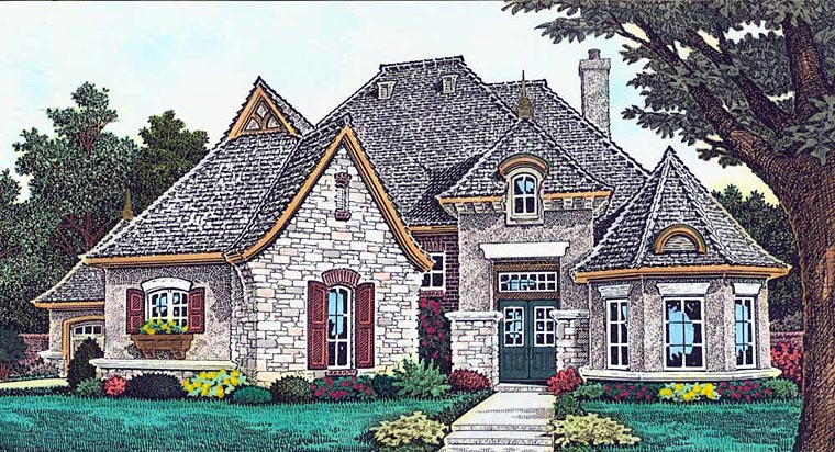 Country European French Country House Plan 89412 Elevation