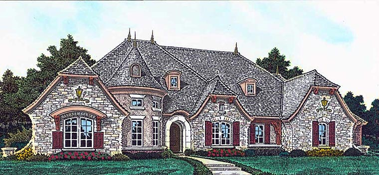 European French Country House Plan 89414 Elevation