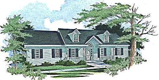 Elevation of Cape Cod   Country   House Plan 89644