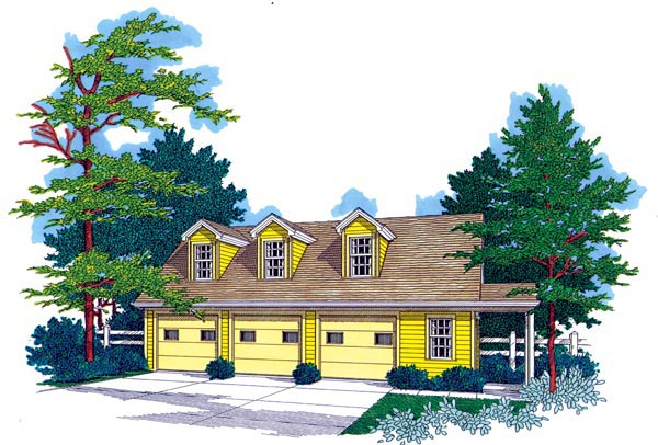 Elevation of Country   Garage Plan 89761
