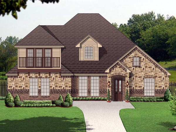 Elevation of Traditional   House Plan 89811