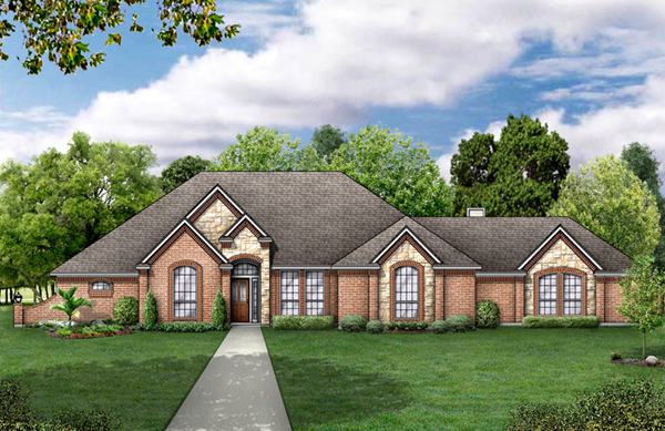 European House Plan 89835 Elevation