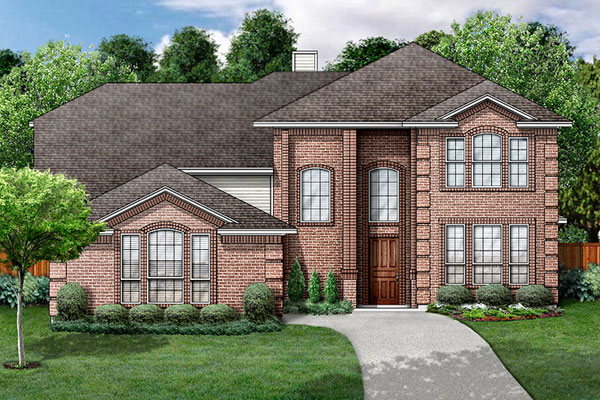 Colonial Traditional House Plan 89861 Elevation
