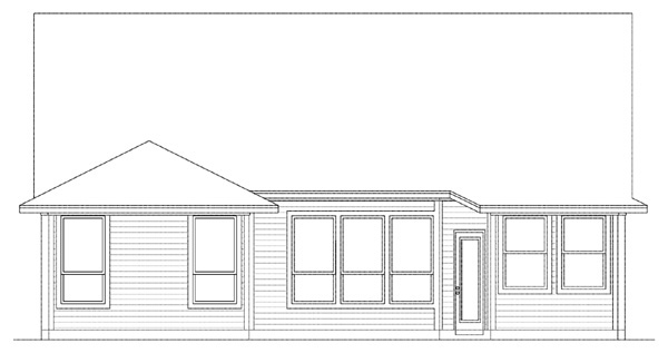 Country, Farmhouse House Plan 89900 with 3 Beds, 2 Baths, 2 Car Garage Rear Elevation