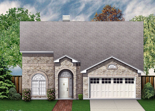 European Traditional House Plan 89946 Elevation
