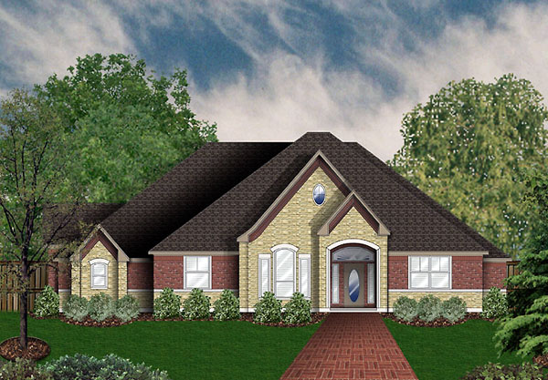 European Victorian House Plan 89959 Elevation