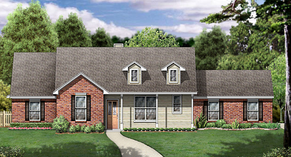 Country House Plan 89998 Elevation
