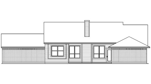 Country House Plan 89998 Rear Elevation