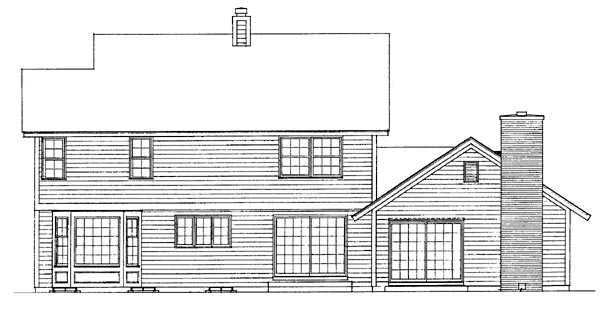 Country House Plan 90201 Rear Elevation