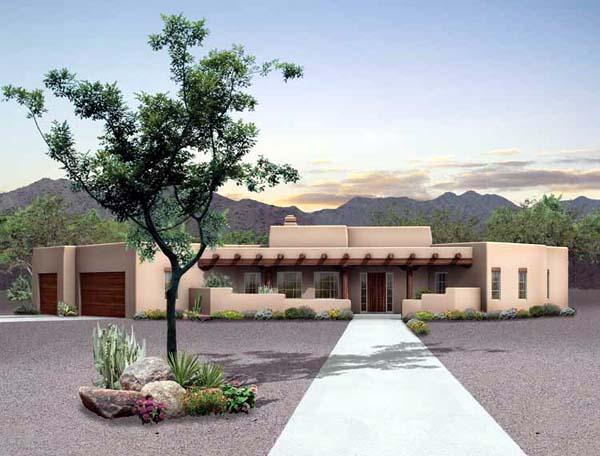 House plan 90211 at for Santa fe home design