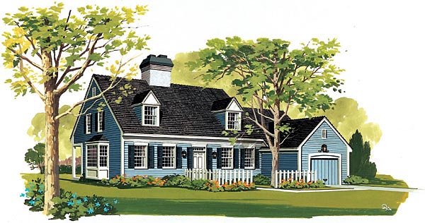 Cape Cod House Plan 90214 Elevation