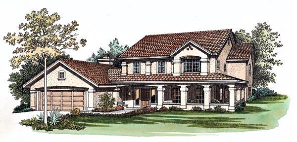 Mediterranean House Plan 90223 Elevation