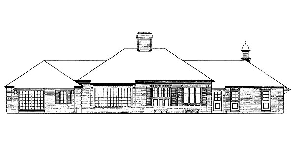 Traditional House Plan 90227 Rear Elevation