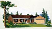 Plan Number 90235 - 1267 Square Feet