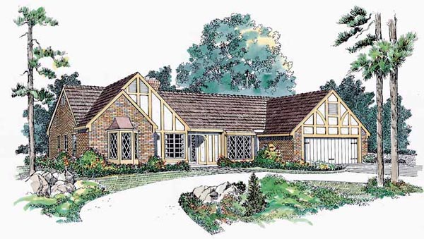 Ranch House Plan 90248 Elevation