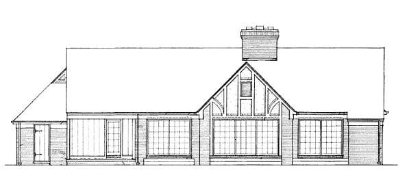 Ranch House Plan 90248 Rear Elevation
