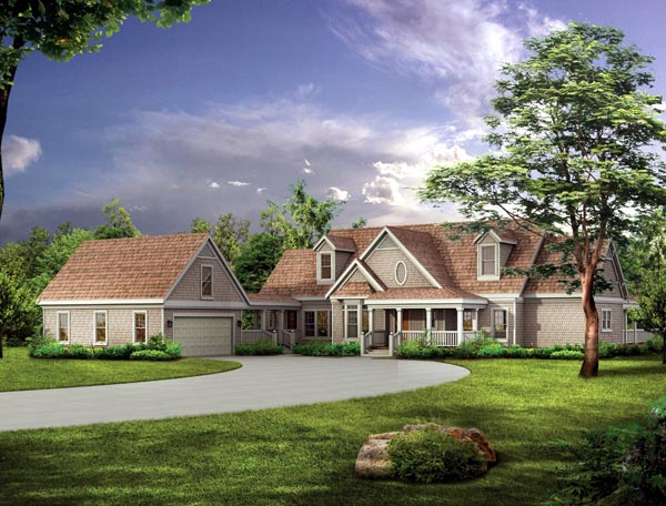Country Farmhouse Victorian House Plan 90261 Elevation