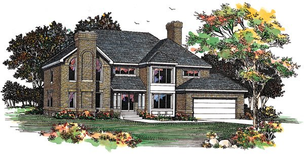 Contemporary House Plan 90262 Elevation