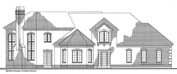 European House Plan 90264 Rear Elevation