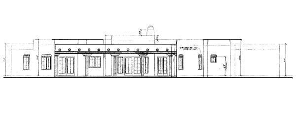Santa Fe Southwest House Plan 90273 Rear Elevation