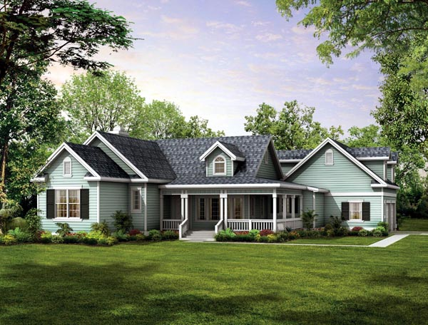 Country Farmhouse Victorian House Plan 90277 Elevation