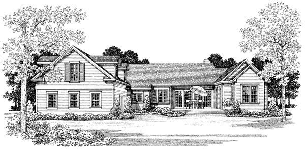 Country Farmhouse Victorian House Plan 90277 Rear Elevation
