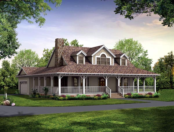 Country Farmhouse Victorian House Plan 90288 Elevation