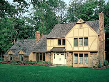 European Tudor House Plan 90295 Elevation