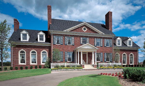 Elevation of Colonial   House Plan 90297