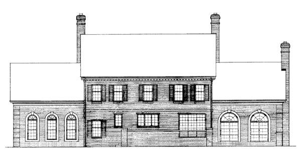 Rear Elevation of Colonial   House Plan 90297