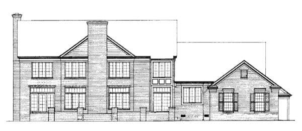 Colonial Plantation House Plan 90299 Rear Elevation