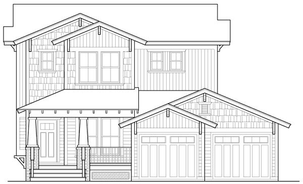Country Craftsman House Plan 90309 Elevation