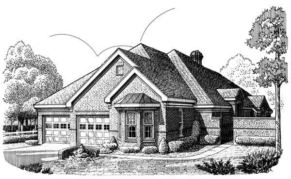 European House Plan 90321 Elevation