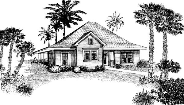 Contemporary Cottage House Plan 90329 Elevation