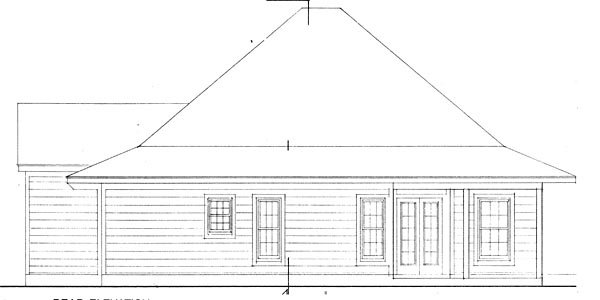 Contemporary Cottage House Plan 90329 Rear Elevation