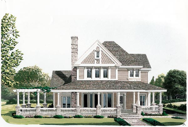 House plan 90331 at for Victorian farmhouse plans