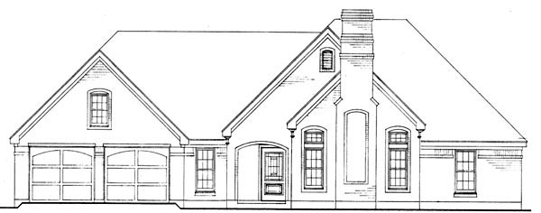 European Traditional House Plan 90361