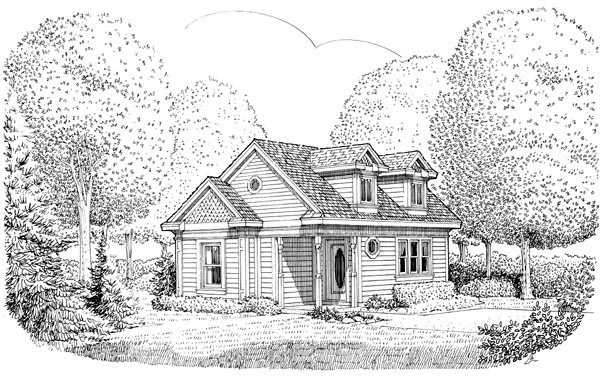 Cottage Country Victorian House Plan 90362 Elevation
