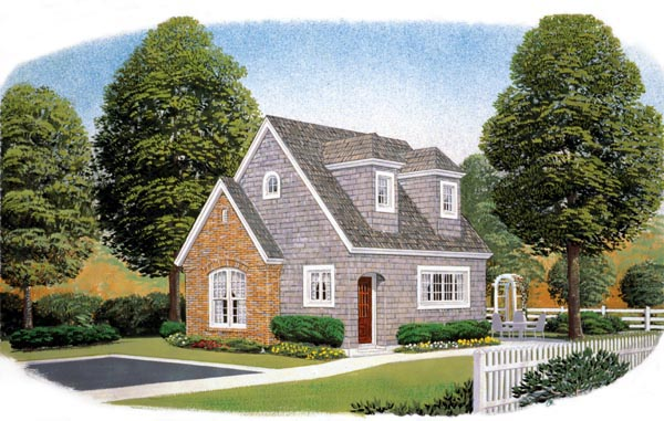 NarrowLot House Plan 90366