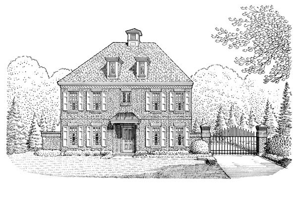Cabin, Colonial, Contemporary, Southern House Plan 90378 with 3 Beds, 3 Baths, 2 Car Garage Elevation