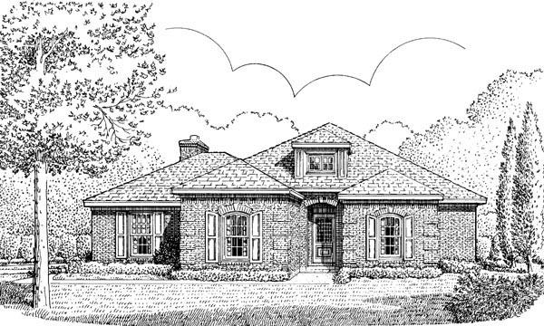 European House Plan 90381 Elevation