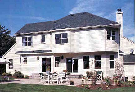 Victorian House Plan 90602 with 4 Beds, 3 Baths, 2 Car Garage Rear Elevation