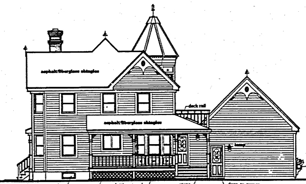 Country Farmhouse Traditional Victorian House Plan 90616 Rear Elevation